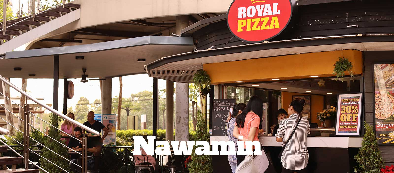royal pizza co narwamin bangkok
